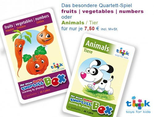 Quartett-fruits-animals